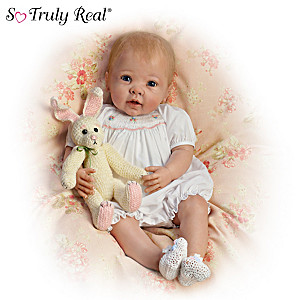 "Linda Murray ""Bunny Hugs"" Lifelike Poseable Baby Doll"