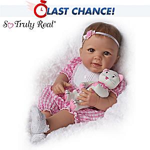 """Linda Murray """"Kitten Kisses"""" Baby Girl Doll With Toy Kitten"""
