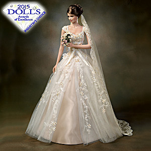 Cindy McClure Rose Gold Ring-Inspired Porcelain Bride Doll