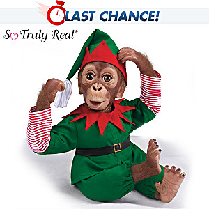 "Simon Laurens ""Jolly, The Holiday Elf"" Orangutan Baby Doll"