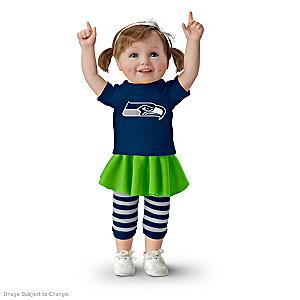 NFL-Licensed Seattle Seahawks Fan Girl Doll