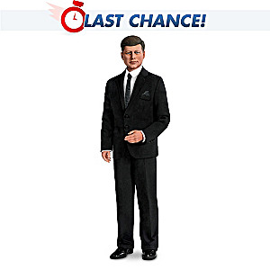 President John F Kennedy Poseable Talking Commemorative Doll