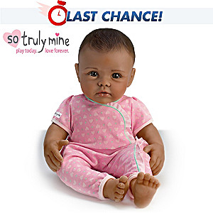 So Truly Mine Play Doll: Black Hair, Brown Eyes, Dark Skin