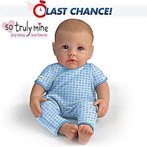 So Truly Mine Baby Boy Doll: Light Brown Hair, Blue Eyes