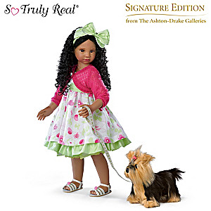 "Angela Sutter ""Kayla's Sunday Stroll"" Doll With Her Yorkie"
