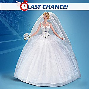 """""""Happily Ever After"""" 30th Anniversary Porcelain Bride Doll"""