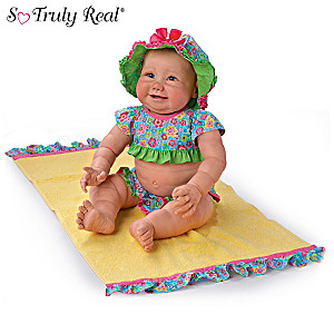 "Sherry Miller ""Beach Baby"" Doll With Sunglasses And Towel"