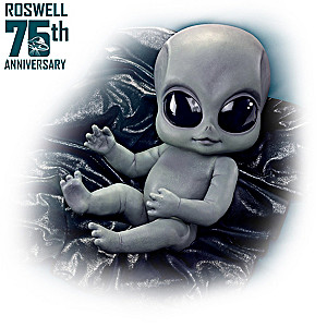 Alien Baby Doll By Kosart Studios With Cosmic-Style Blanket