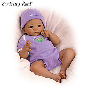 "Tasha Edenholm ""Sweet Pea"" Weighted Poseable Vinyl Baby Doll"