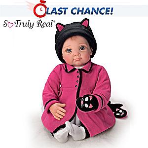 """Elly Knoops """"Little Kitten Lost Her Mitten"""" Baby Doll"""