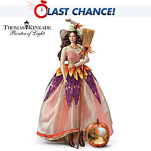 "Thomas Kinkade ""Autumn Lane"" Witch Portrait Doll"