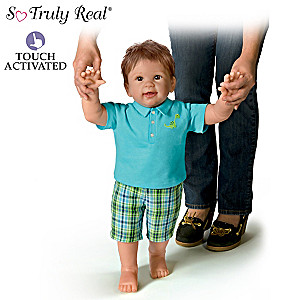 """Mason's First Steps"" Interactive Walking Baby Doll"