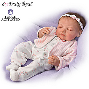 Jannie DeLange Poseable Baby Doll Breathes And Has Heartbeat