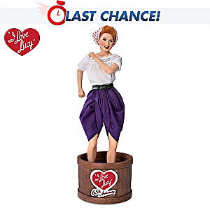 "I LOVE LUCY ""Lucy Stomping Grapes"" Musical Portrait Doll"