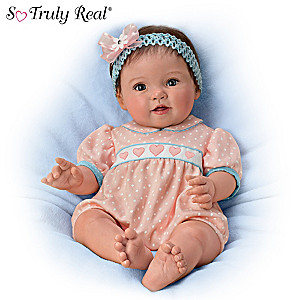 "Ping Lau ""Littlest Sweetheart"" Lifelike Poseable Baby Doll"