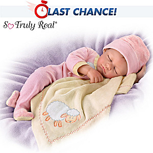 "Marissa May ""Counting Sheep"" Lifelike Baby Girl Doll"