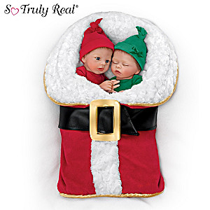 """Donna Lee """"Wrapped Up In Christmas"""" Twin Baby Doll Set"""
