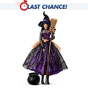"""Serena"" Witch Doll With Poseable Head and Arms"