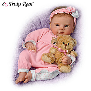 """Violet Parker """"Un-bear-ably Cute!"""" Baby Doll With Plush Bear"""