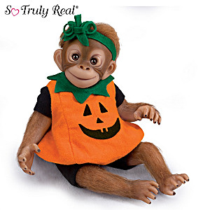 "Amy Ferreria ""Daisy, Our Li'l Pumpkin"" Monkey Doll"