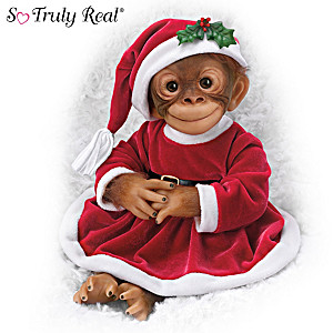 "Amy Ferreria ""Daisy, Santa's Li'l Helper"" Monkey Doll"
