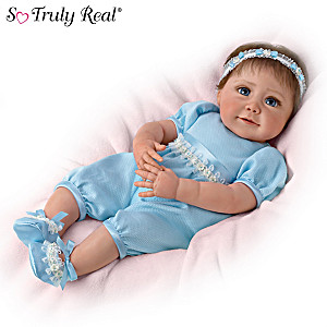 "Sherry Miller ""Baby Blue Eyes"" Weighted Lifelike Baby Doll"