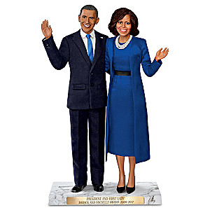 Historic Farewell President And First Lady Figure Set