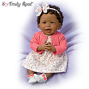 "Linda Murray ""Always Smiling, Aisha"" Weighted Baby Girl Doll"