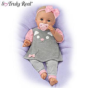 """P. Lau """"Cuddly Kitty"""" Lifelike Baby Girl Doll"""