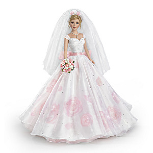 Sandra Bilotto Rose Garden-Inspired Porcelain Bride Doll