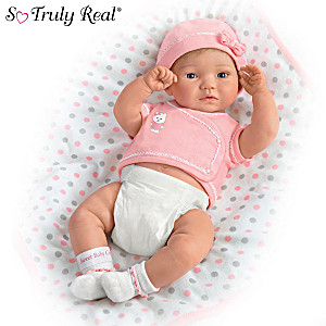 Anatomically Correct Baby Girl Doll By Ping Lau With Blanket