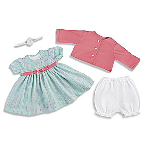 "Sweet And Sunny Baby Doll Outfit Set For 17"" To 19"" Dolls"