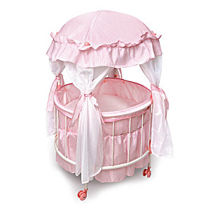 """Royal Baby"" Domed Canopy Crib For 18"" Dolls"