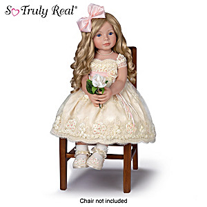 """Pearls, Lace, And Grace"" Lifelike Child Doll"