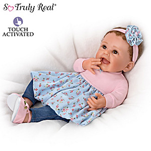"Sherry Rawn ""Giggles And Grins"" Touch-Activated Baby Doll"
