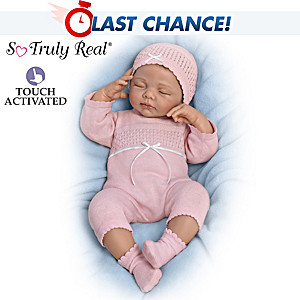 """Beautiful Dreamer"" Breathing Baby Doll With Heartbeat"