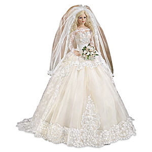 Country Charm Southern-Inspired Bisque Porcelain Bride Doll