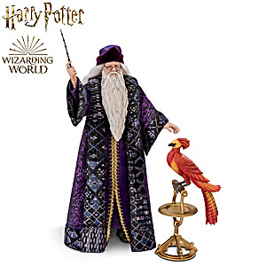 PROFESSOR DUMBLEDORE Poseable Portrait Figure With FAWKES