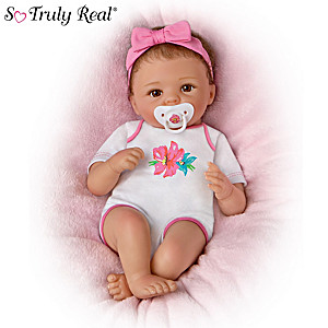 Cheryl Hill Presley Lifelike Baby Doll With Pacifier