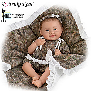 "Ping Lau ""Camo Cutie"" Fully Poseable Lifelike Baby Doll"