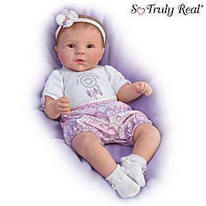"Violet Parker ""Tiny Dream Catcher"" Lifelike Baby Girl Doll"
