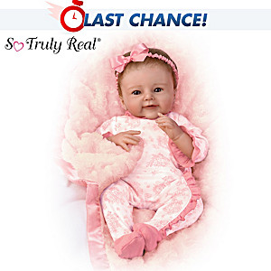 So Truly Real Baby Doll With Plush Blanket By Sherry Rawn
