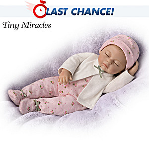 "Tiny Miracles Sleepytime Sophie Lifelike 10"" Toy Doll"