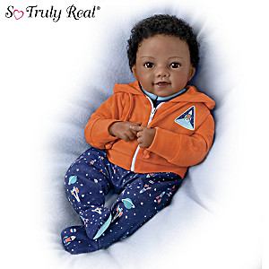 "Waltraud Hanl ""Out Of This World Aiden"" Lifelike Baby Doll"