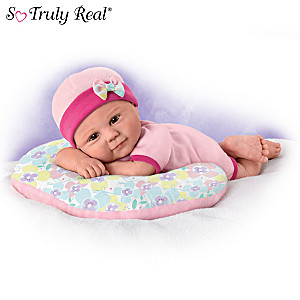 """Violet Parker """"Cuddle Cutie"""" Baby Doll With Cozy Pillow"""