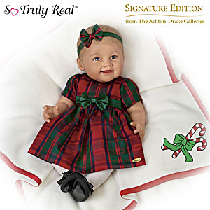 """Baby's First Christmas"" Doll With 7-Piece Holiday Ensemble"