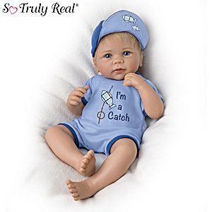 "Linda Murray ""I'm A Catch"" Lifelike Baby Boy Doll"