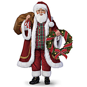 Poseable Santa Doll With Lights And Music