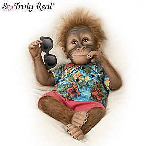 """So Truly Real """"Dreaming In Paradise"""" Monkey Doll"""