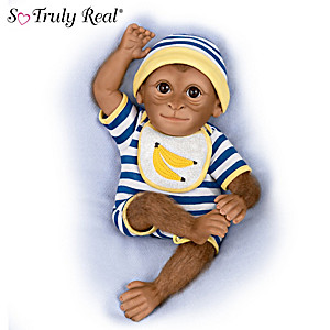 """Kirby"" So Truly Real Poseable Baby Monkey Doll"